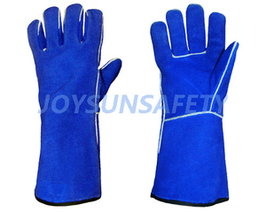 WCBB01 blue welding leather gloves