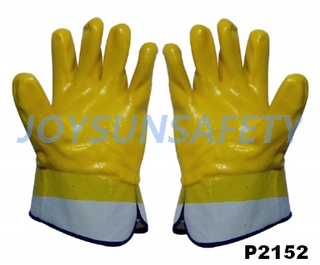 P2152 PVC coated gloves smooth finished